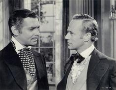 Rhett Butler (Clark Gable) and Ashley Wilkes (Leslie Howard)