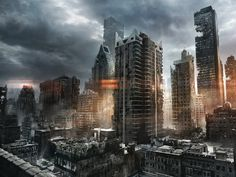 ruins cityscapes