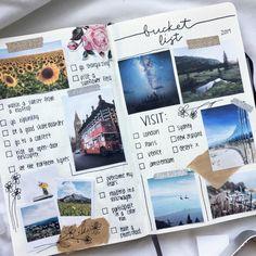 Travel Journal Scrapbook, Bullet Journal Travel, Bullet Journal Notebook, Bullet Journal Ideas Pages, Travel Journal Pages, Travel Journals, Bullet Journal Packing List, Bullet Journal Inspiration Creative, Creative Diary