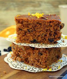 Greek Melachrino (traditional grape molasses cake) Greek Recipes, Whole Food Recipes, Molasses Cake, Unprocessed Food, Tasty, Yummy Food, Cupcake Cookies, Cupcakes, Coffee Cake