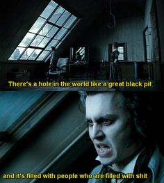 Sweeney Todd. MY favorite part in the whole movie.