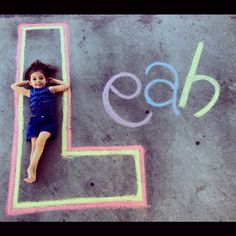 Chalk art with my daughter, kids will love this
