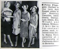 During the Delta Sigma Theta Sorority Dance at Berkeley - Prize Flappers - Jet Magazine, November 17, 1955 by vieilles_annonces, via Flickr