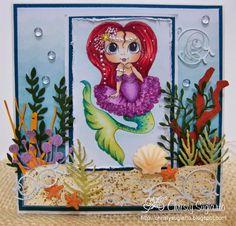 Bestie under water scene card by Christy Sugiarto