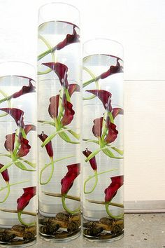 We can create a whimsical effect with either calla lilies, mokara orchids or dahlia on each table, making the centerpieces all a bit different if you like. Description from pinterest.com. I searched for this on bing.com/images