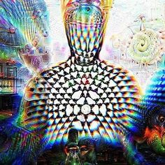Emanation in a parallel universe, from jtphilips421, original sculpture by Sukhi Barber, bronze, meditator, meditation, psychedelic, yoga, Buddha, Buddhist, visionary art, mandala