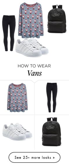 """""""Untitled #1903"""" by bianca-salazar97 on Polyvore featuring Paige Denim, adidas Originals and Vans"""