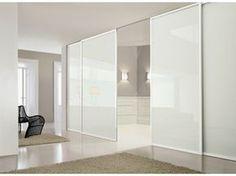 Mampara divisoria de vidrio lacado con puertas corredizas DEA - Doimo CityLine