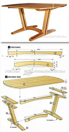 Dining Room Table Plans - Furniture Plans and Projects   WoodArchivist.com