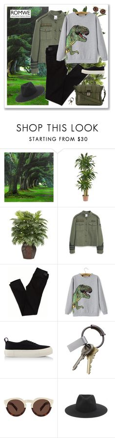 """Esplora"" by alessandramongi ❤ liked on Polyvore featuring Nearly Natural, MANGO, American Eagle Outfitters, Eytys, CB2, Illesteva, rag & bone, 3.1 Phillip Lim and romwe"