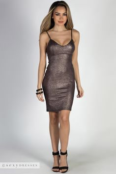 """""""Doing My Thing"""" Mauve Gold Metallic Strappy Bodycon Dress - Babe Society Backless Maxi Dresses, White Maxi Dresses, Maxi Dress With Sleeves, Tight Dresses, Sexy Dresses, Bodycon Dress, Nye Dresses, Metallic Cocktail Dresses, Metallic Dress"""
