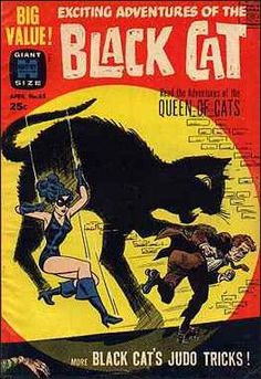 Seller of bronze and silver age Marvel DC comics Vintage Comic Books, Vintage Comics, Comic Books Art, Black Cat Comics, Black Cat Art, Black Cats, Book Cover Art, Comic Book Covers, Pulp Fiction Comics