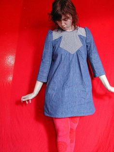 Lovely version of Simplicity 3964 with 3/4 sleeves.