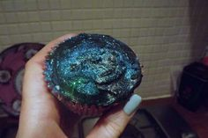 Haley, again... I think piping it will still look good. Celestial Galaxy Cupcakes