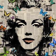 """Marilyn Monroe -Signed Limited Edition 80,"" pop art Marilyn Monroe print by artist Vee Bee 