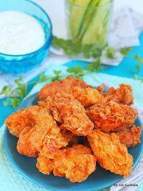 skrzydełka smażone w panierce zupełnie jak te z KFC, obiad, drób, kurczak