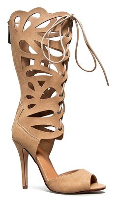 LEANN Knee High Butterfly Lace Up High Heel Sandal *** Quickly view this special  product, click the image : Lace up sandals