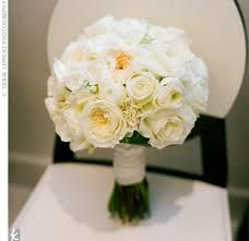 all white bouquet with garden roses love!!!