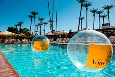 8 Reasons La Quinta Resort & Club Takes Summer Chill to the Next Level— Plunge Into Veuve Clicquot Champagne Flights - Locale Magazine Hidden Swimming Pools, Vegas Pools, Avalon Hotel, Veuve Cliquot, Party Deco, Champagne Party, Classic Theme, Plunge Pool, Event Marketing