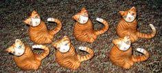 Six Tabby cat napkin holders