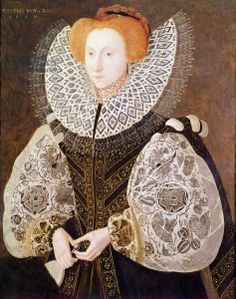 1587 Unknown Girl, aged 1587 (oil on panel) Creator: Bettes, John, the Younger )Nationality: English Description: overpainted to represent Elizabeth I Elizabethan Fashion, Tudor Fashion, Elizabethan Era, Renaissance Mode, Renaissance Fashion, Renaissance Clothing, Historical Art, Historical Costume, Historical Clothing