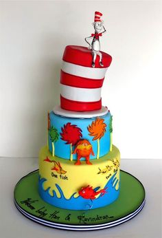 Incredible 79 Best Dr Suess Cakes Images Dr Suess Cakes Dr Seuss Cake Funny Birthday Cards Online Aeocydamsfinfo