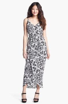 Amanda Uprichard 'Madison' Print Faux Wrap Maxi Dress available at #Nordstrom