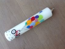 Geburtstagskerze Fahrrad, Luftballons