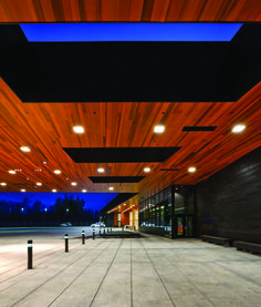 Secondary Canopy and Main Public Entrance - Photo Credit: Paul Crosby