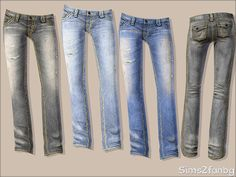 sims2fanbg's 325 - Teen jeans