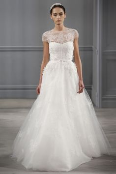 New Monique Lhuillier Wedding Dresses: Lovely Lace and Great Lengths—Plus, Wraps and Capes!