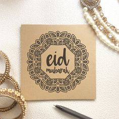 Items similar to Islamic Greetings, Eid Mubarak Card, Eid Celebrations, Ramadan Kareem, Happy Eid, Muslim Festival, Ethnic Card, Religious, Mandala Design on Etsy