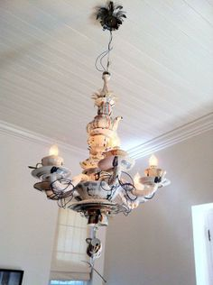 Blue Velvet Chair: High Tea - Chandelier