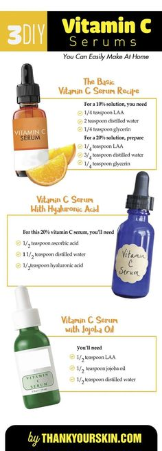 The best DIY projects & DIY ideas and tutorials: sewing, paper craft, DIY. Natural & DIY Skin Care : DIY vitamin C serum Recipe. (with hyaluronic acid and ...