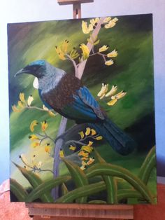 A NZ Tui. Had never attempted a bird before, and here's my attempt.  Quite enjoyed it actually.