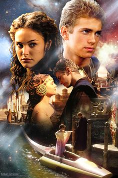 Star Wars: Anakin and Padmé Skywalker Film Star Wars, Star Wars Poster, Star Wars Art, Star Trek Enterprise, Star Trek Voyager, Reylo, Reina Amidala, Queen Amidala, Tableau Star Wars
