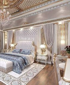 46 Modern And Romantic Master Bedroom Design Ideas. If you are tired of your master bedroom, you can incorporate a few changes that make a big difference. Luxury Bedroom Design, Master Bedroom Design, Home Decor Bedroom, Bedroom Ideas, Bedroom Designs, Interior Design, Romantic Master Bedroom, Beautiful Bedrooms, Modern Bedroom