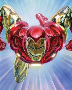 Marvel Tony Stark: Iron Man 1 - Alex Ross Wooden Wall Art 24 x 36 cm Poster Marvel, Posters Batman, Superman Art, Marvel Logo, Batman Vs, Spiderman, Comics Anime, Marvel Comics Art, Comic Art
