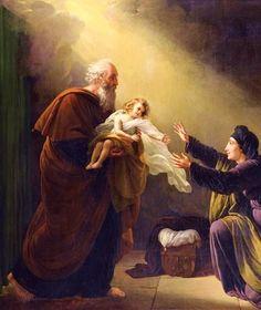 Elijah reviving the Son of the Widow of Zarephath (Louis Hersent 1777 – 1860)