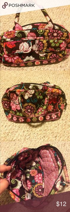 Cute Mod Floral Vera Bradley handbag Super cute Vera Bradley handbag in Mod Floral Pink (retired November 2009) - two snap closure external pockets - 3 internal pockets, zip closure, hand held - barely used and so cute! Vera Bradley Bags
