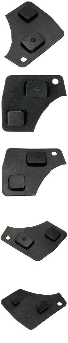 2 Keys Rubber Button Key Remote Control For Toyota Yaris Rav4 Corolla Mr2 Celica