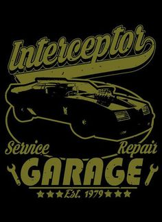 Interceptor Garage T-Shirt - Mad Max T-Shirt is $12.99 today at Pop Up Tee!