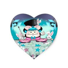 #funny - #MAGIC PET HEART STICKER 4.5 x 2.7 inch sheet of 4M