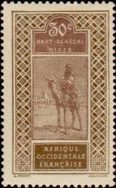 1914: Targui (צרפתיות, מושבות ושטחים) (Upper Senegal and Niger) Yt:FR-HS 26,Mi:FR-HS 26