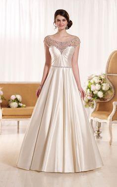 Gatsby-Inspired Illusion Back Wedding Dress