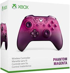 Equip yourself with the Xbox Wireless Controller - Phantom Magenta special Edition, featuring a translucent design that fades to dark Pink. Stay on target with textured grip. Custom button mapping with the Xbox accessories app. Jeux Xbox One, Xbox 1, Playstation, Magenta, Manette Xbox One, Microsoft, Xbox Accessories, Console Xbox One, Bluetooth Dongle
