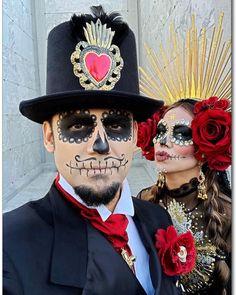 Halloween Makeup Sugar Skull, Halloween Makeup Looks, Halloween Skull, Skull Makeup, Sugar Skull Costume Diy, Ghost Makeup, Skeleton Makeup, Scary Makeup, Scary Couples Halloween Costumes