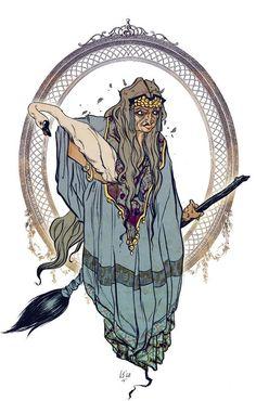 Baba Jaga ( Baba Yaga) from name Jadwiga Baba Yaga, Illustrations, Illustration Art, Wicca, Supernatural Beings, Season Of The Witch, Rabe, Witch Art, Gods And Goddesses