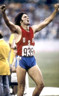 Bruce Jenner, gold medal winner in the Montreal 1976 Summer Olympics