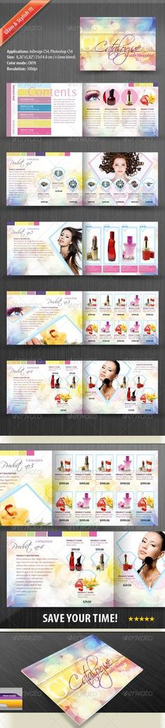 Product Catalog for Women — Photoshop PSD #accessories #ladies • Available here → https://graphicriver.net/item/product-catalog-for-women/676564?ref=pxcr